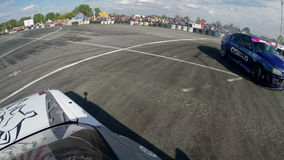 Drift racing outdoors clash stock video footage