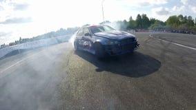 Drift racing outdoors stock video