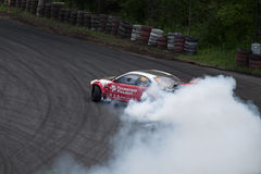 Drift racing. On Pezinska Baba Stock Image