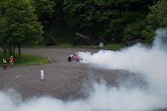 Drift racing. On Pezinska Baba Royalty Free Stock Image