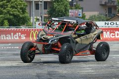 Drift and Rally Show occurred on June, 2nd, 2018 in the Shopping Mall called Il Destriero placed in Vittuone, Italy Stock Image