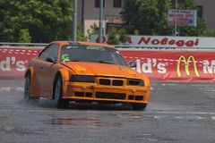 Drift and Rally Show occurred on June, 2nd, 2018 in the Shopping Mall called Il Destriero placed in Vittuone, Italy Stock Photography