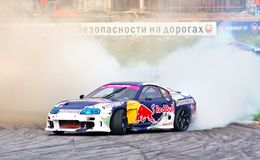 Drift show 2012, Moscow Stock Image