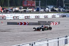 Drift show formula 1 auto Royalty Free Stock Photos