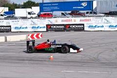 Drift show formula 1 auto Stock Photos