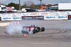 Drift show formula 1 auto Stock Image