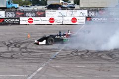 Drift show formula 1 auto Royalty Free Stock Photography