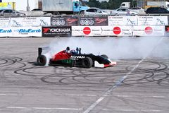 Drift show formula 1 auto Stock Photography