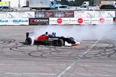 Drift show formula 1 auto stock photography