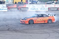 Drift show Orange team Royalty Free Stock Photos