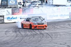 Drift show Orange team Stock Images