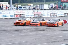Drift show Orange team Stock Photography