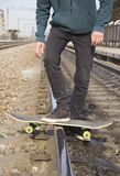Drift on a skateboard royalty free stock photo