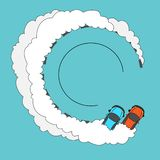 Drift smoke screen stock illustration