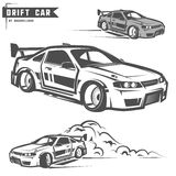 Drift sport team print for t-shirt,emblems and logo. Royalty Free Stock Images