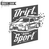 Drift sport team print for t-shirt,emblems and logo. Royalty Free Stock Photos