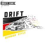 Drift sport team print for t-shirt,emblems and logo. Stock Photo