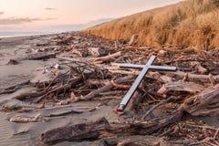 Drift Wood Cross Royalty Free Stock Image