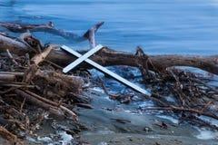 Drift Wood Cross Stock Photos