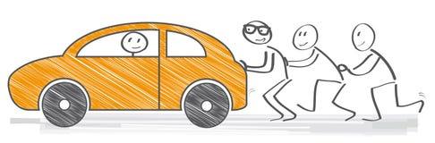 Driftig bil vektor illustrationer