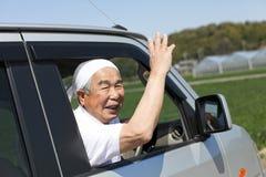 Driftig pensionär Arkivbilder