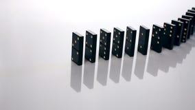 Driftigt domino för finger arkivfilmer