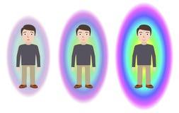 Driftigt läka Pranic läka Alternativt medicinbegrepp royaltyfri illustrationer