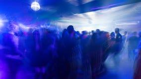 Driftigt parti i en nattklubb, timelapse, 4K arkivfilmer