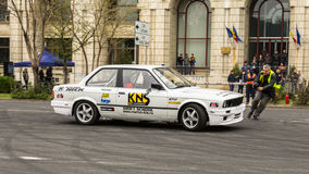 Drifting. At AutoMotoShow 2014, Bucharest - Romania royalty free stock image
