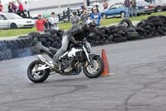 Drifting bike Stock Image
