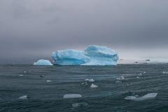 Drifting Blue Iceberg Stock Image