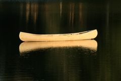 Drifting canoe Stock Photography