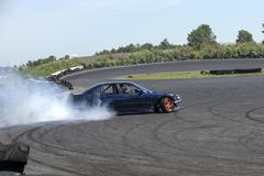 Drifting car in action stock image