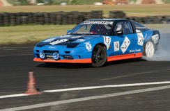 Drifting car Stock Image