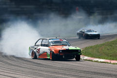 Drifting car sport Royalty Free Stock Image