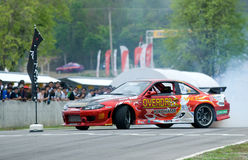 Drifting competition in Thailand Stock Photos
