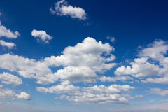 Drifting Cumulus Clouds Royalty Free Stock Image