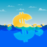 Drifting Dollars Royalty Free Stock Photo