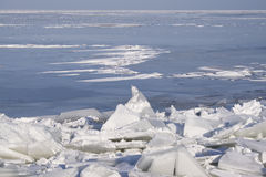 Drifting Ice. On the IJsselmeer, Netherlands stock photos
