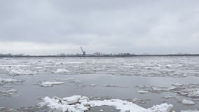 Drifting of ice. Driving of ice. Ice floe stock video