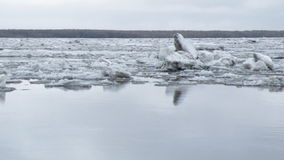 Drifting of ice. Driving of ice. Ice floe stock video footage