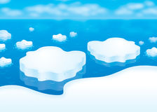 Drifting ice floes Stock Images