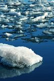 Drifting Ice on river Stock Photography