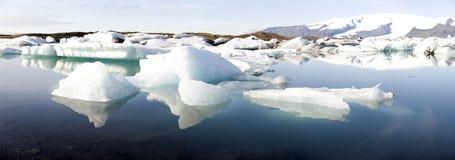 Drifting icebergs Stock Photos