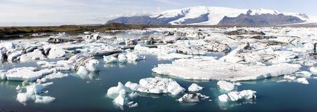 Drifting icebergs Stock Image