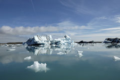 Drifting icebergs. Royalty Free Stock Images