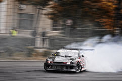 Drifting Nissan Royalty Free Stock Images