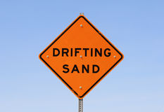 Drifting sand sign Royalty Free Stock Photos