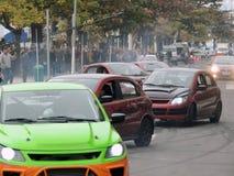 Drifting show at Balneario Camboriu Sc Brazil Stock Photos