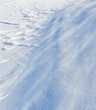 Drifting snow Royalty Free Stock Photography